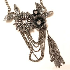 Grey metal necklace from Express.